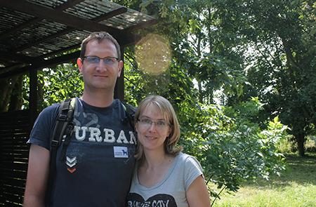 Christian Friedrich, Pate von Papagei Jakob mit seiner Frau Rebecca.