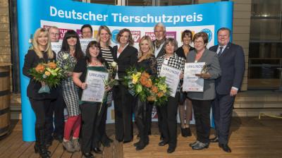 Die Preisträger des Deutschen Tierschutzpreises 2015.