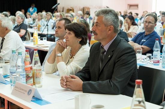 Besuch aus der Ukraine, v.l.n.r.: Denis Serogin, Irina Naumova und Valeriy Znamerovsky,