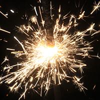 Feuerwerk an Silvester.