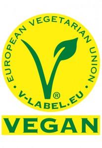 Logo des veganen V-Labels.