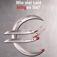 """Kampagnenmotiv """"Billigpreis - Handel"""" des Deutschen Tierschutzbundes."""