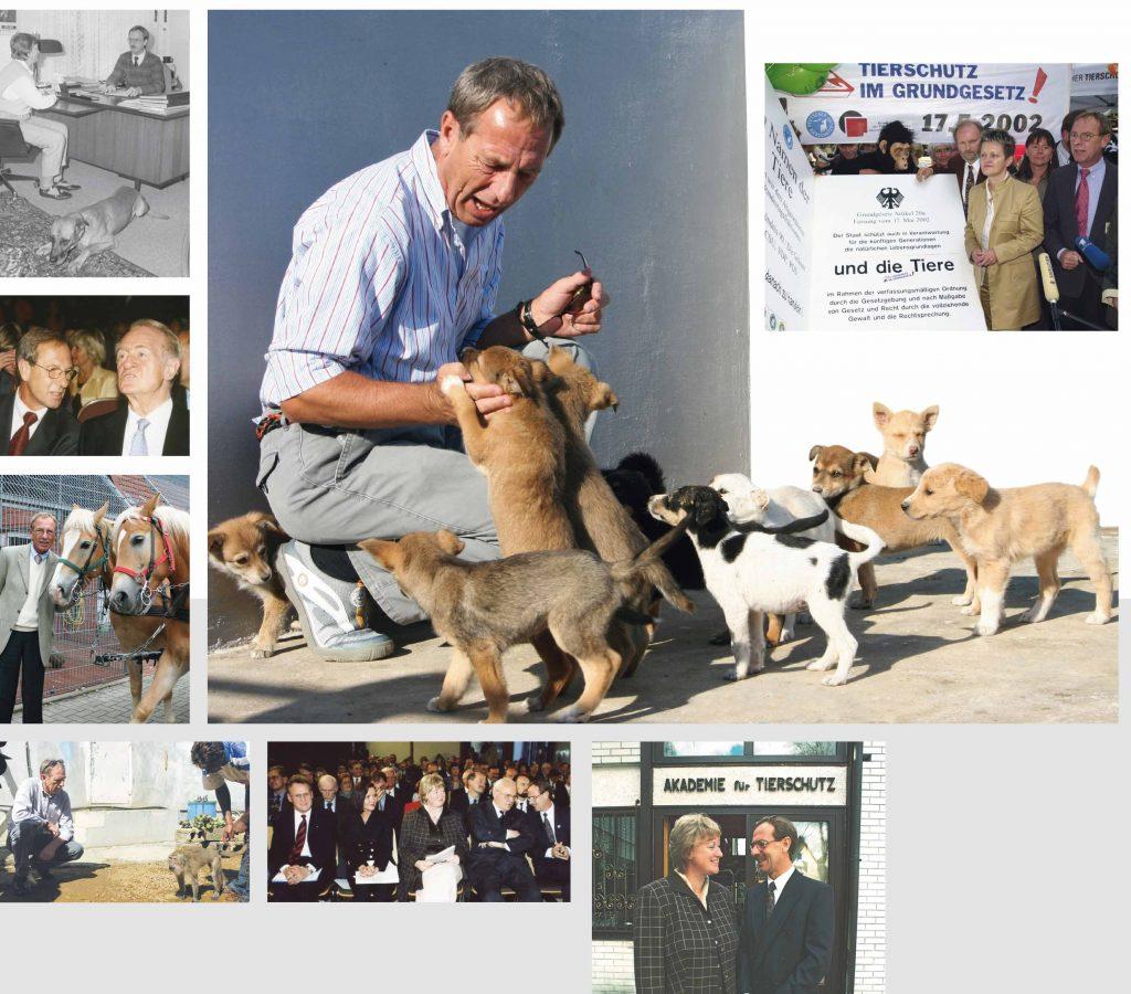 Bildercollage Wolfgang Apel: Tierschutz war sein Lebenswerk.