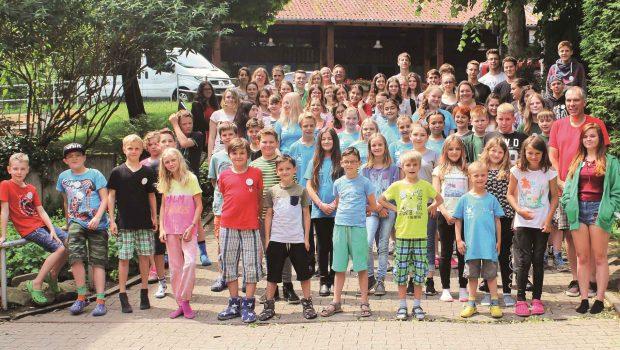 Die Kinder und Jugendlichen beim Landestreffen der Tierschutzjugend Nordrhein-Westfalen in Hattingen.