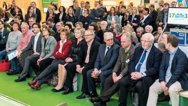 Viele Vertreter von Bund, Ländern und der EU kamen zum Label-Empfang des Deutschen Tierschutzbundes, der im Rahmen der Internationalen Grünen Woche 2018 in Berlin stattfand.