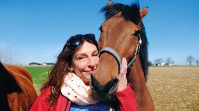 Tierschutzbotschafterin und Kabarettistin Andrea Volk.