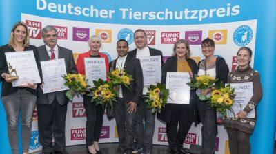 Die Preisträger des Deutschen Tierschutzpreises 2018.