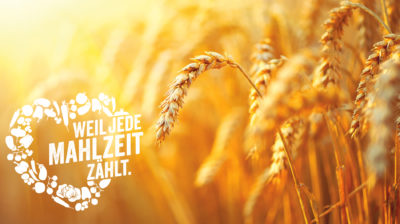 """Getreide-Motiv aus der Aktion """"Weil jede Mahlzeit zählt""""."""