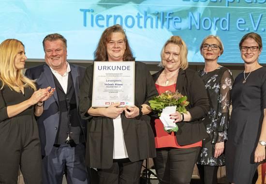 Preisverleihung des Leserpreises beim Deutschen Tierschutzpreis 2019