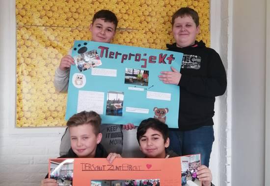 Schüler der Tierpatenklasse 6a der Gesamtschule Waldbröl